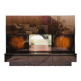 Vintage Mid Century Modern German Shrunk / Wall Unit Cabinet Hutch For Sale