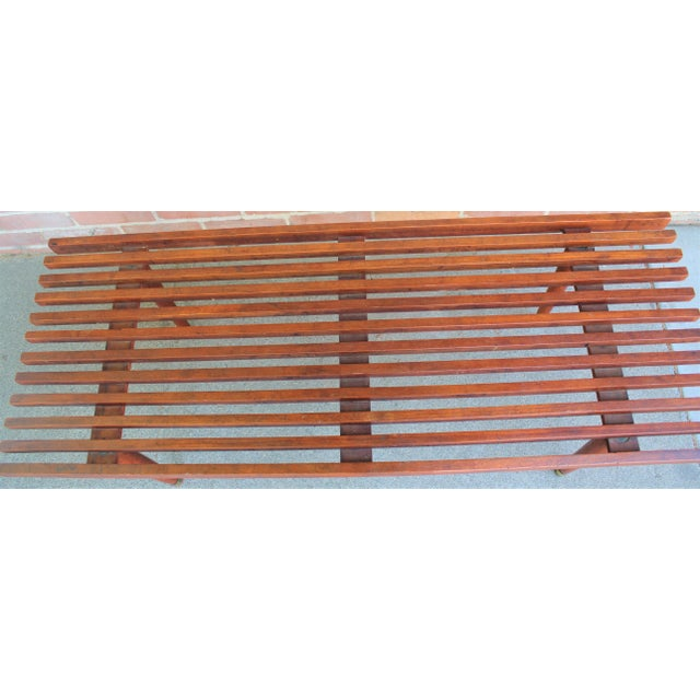 Mid 20th Century Mid-Century Modern Walnut Slat Bench/Coffee Table For Sale - Image 5 of 11