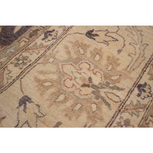 2010s Kafkaz Peshawar Adena Charcoal/Tan Hand-Knotted Rug - 11'10 X 15'1 For Sale - Image 5 of 8