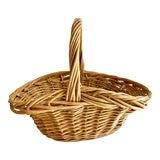 Image of Rustic Natural Wood Decor & Storage Basket For Sale