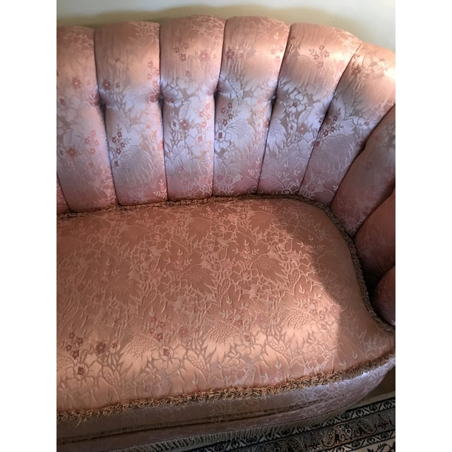 1960s Regency/Glam Pink Tufted Perfection Sofa For Sale - Image 11 of 13