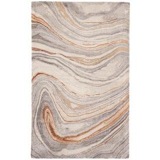 Jaipur Living Atha Handmade Abstract Copper/ Gray Area Rug - 2′ × 3′