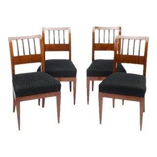 Restored Biedermeier Chairs, Mahogany, circa 1840 - Set of 4 For Sale