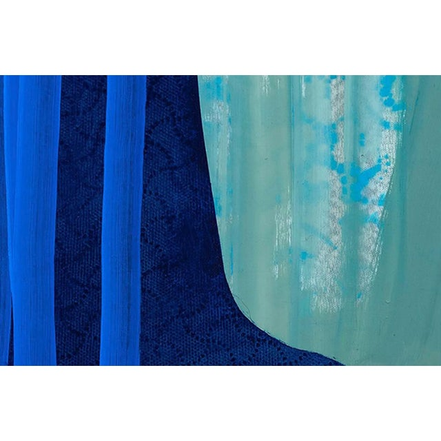 "Abstract Marcy Rosenblat ""Blue Shift"" Painting For Sale - Image 3 of 4"
