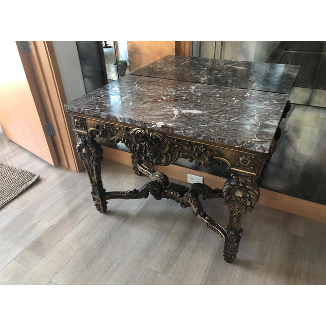 1900 - 1909 Louis XIV Style Gran Baroque Table For Sale - Image 5 of 9