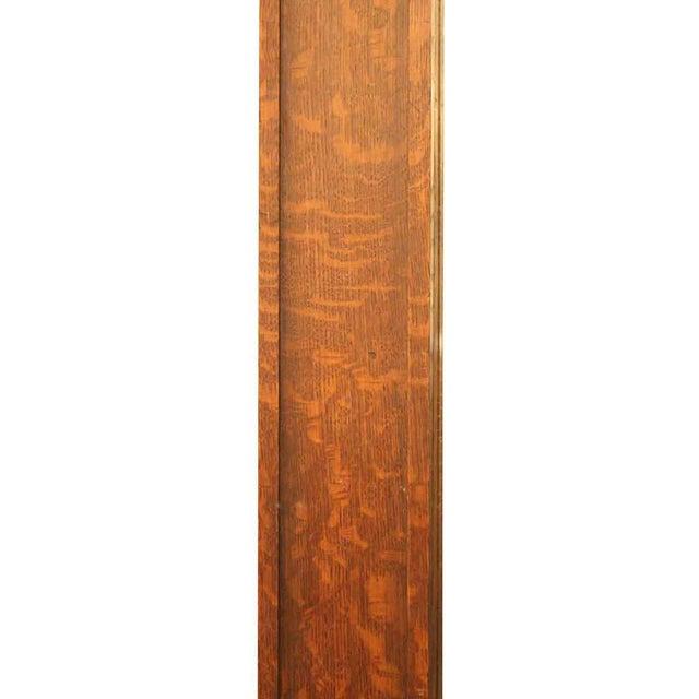 Carved Oak Floor Mirror For Sale - Image 4 of 5