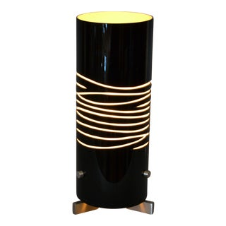 Modern Oggetti Luce Dune Due Black and Sand Hand Blown Table Lamp by Simona For Sale
