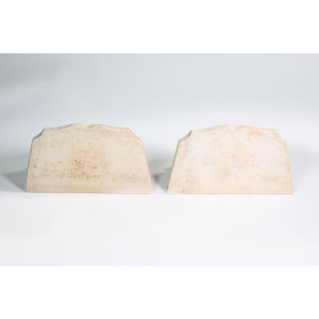 1940s 1940s Hollywood Regency White Plaster Wall Shell Corbels - a Pair For Sale - Image 5 of 7