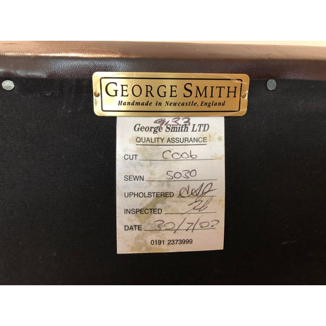 Leather George Smith Standard Arm Signature Chair in Leather For Sale - Image 7 of 10