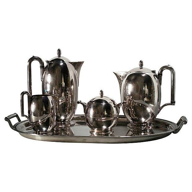 Rogers Modernist Tea & Coffee Service - Set of 6 - Image 1 of 7