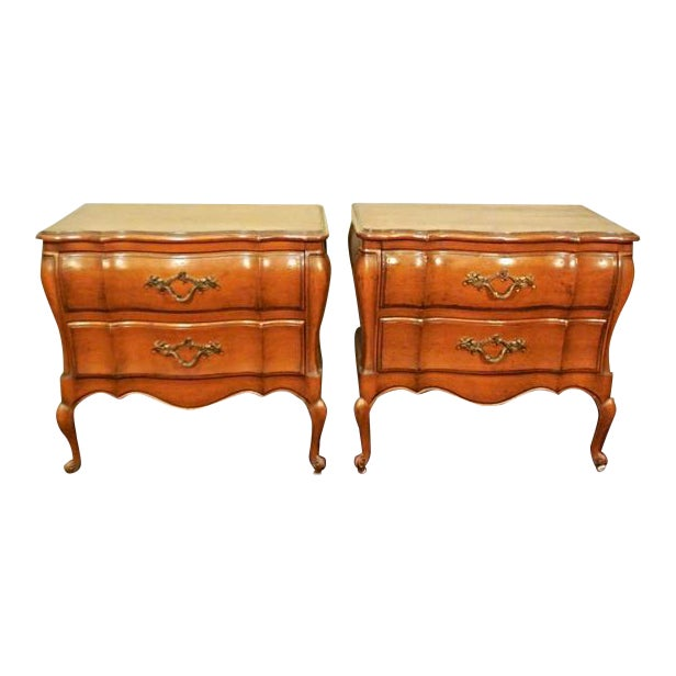 Louis XV French Provincial Nightstands- A Pair For Sale