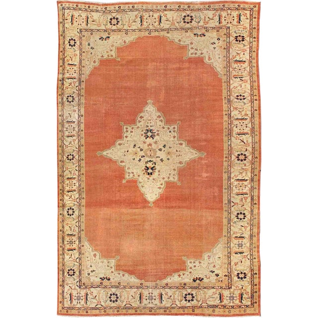 Keivan Woven Arts, E-1207, Late 19th Century Antique Ziegler Sultanabad Rug - 10′2″ × 14′5″ For Sale