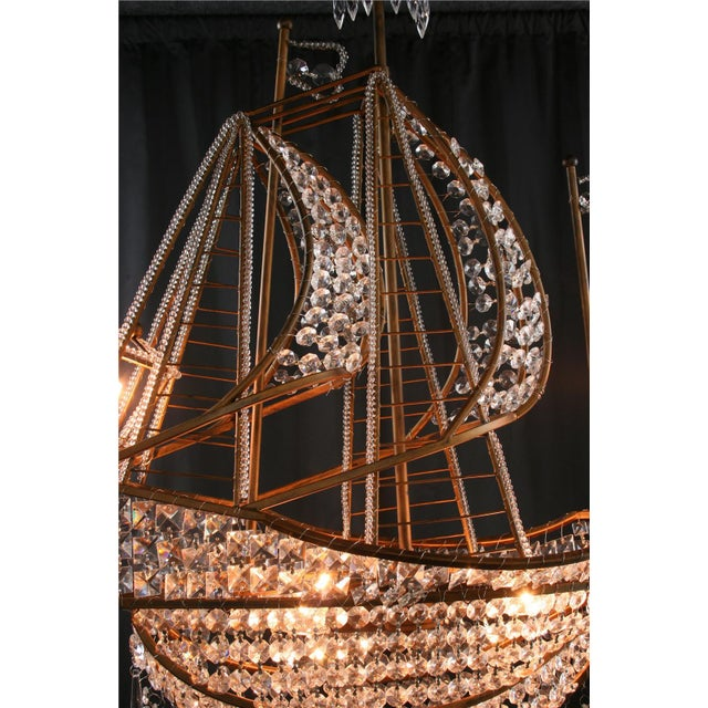New Large Sailing Ship Crystal Chandelier For Sale - Image 10 of 12