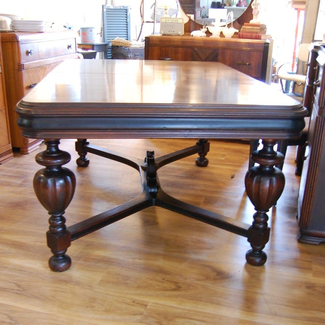 Mahogany Vintage Traditional Mahogany Table For Sale - Image 7 of 8