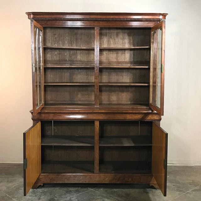 Metal Mid-19th Century Louis Philippe Mahogany Bookcase For Sale - Image 7 of 11