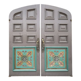 Arched Spanish/Mission Style Double Doors - a Pair For Sale