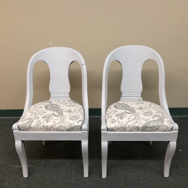 Vintage Chalk Paint Chairs - a Pair For Sale - Image 12 of 13