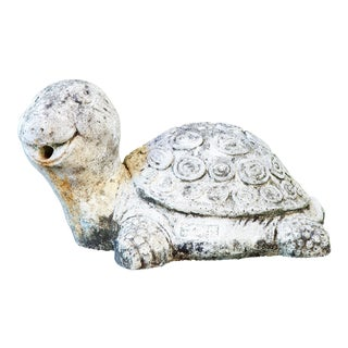 Spanish Mid Century Concrete Garden Sculpture of Turtle For Sale