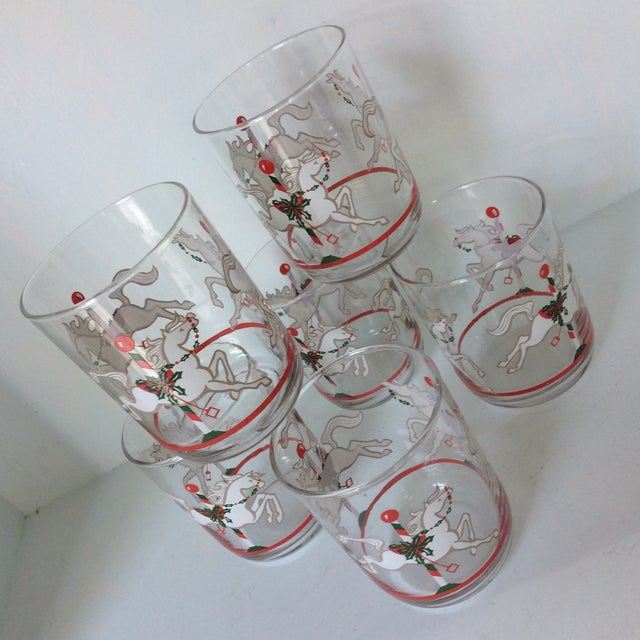 Libbey Merry-Go-Round Glasses - Set of 6 For Sale - Image 12 of 13