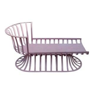 Rare Russell Woodard Aluminum Chaise