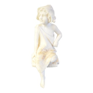 Small Marble Bust of a Sitting Young Girl, France Circa 1920 For Sale