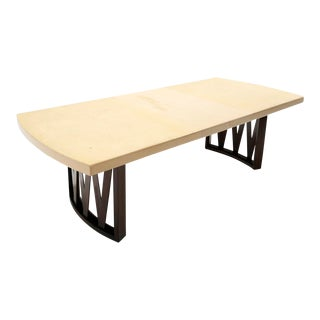 Art Deco Paul Frankl Dining Table With Two Leaves For Sale