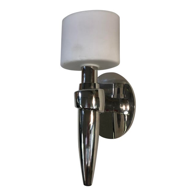 Boyd Lighting 1-Light Liberty Sconce in Polished Nickel For Sale