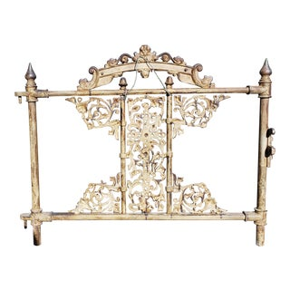 Circa 1890 American Victorian Wrought Iron Cemetery Gate For Sale