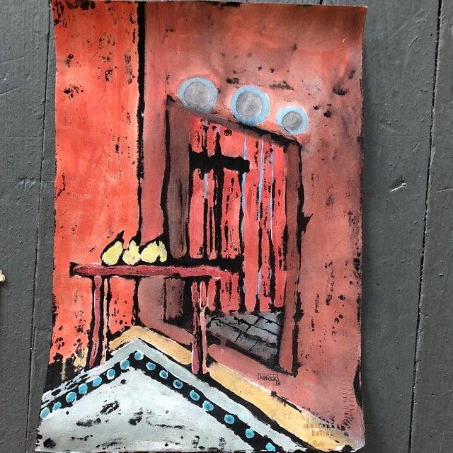 """Collection 11 Original Vintage Gouache Paintings """"Sur La Table"""" For Sale - Image 12 of 13"""