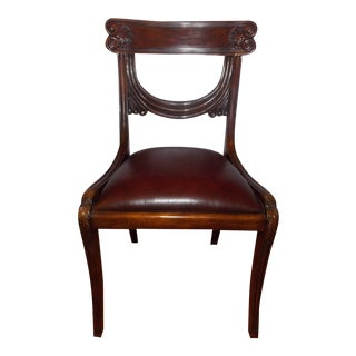 Maitland-Smith Leather Seat Side Chair