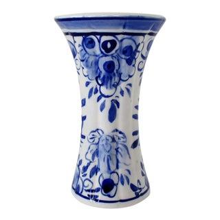 Delft Porcelain Accent Vase For Sale