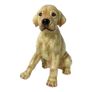 Vintage Ceramic Dog Sculpture For Sale