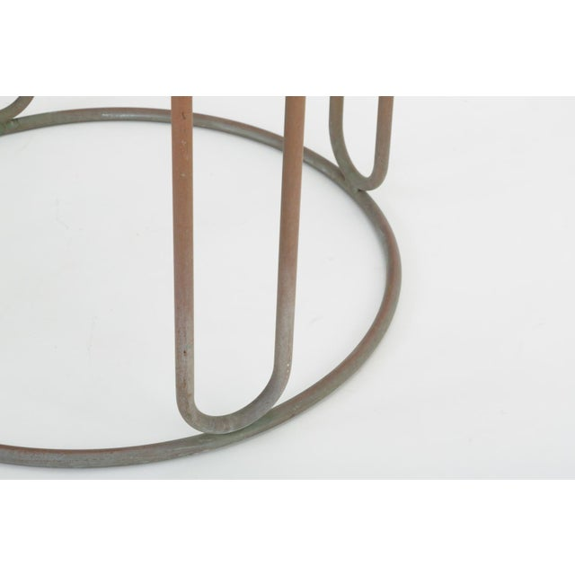 Round Patio Table With Oxidized Bronze Frame by Walter Lamb for Brown Jordan For Sale - Image 11 of 13