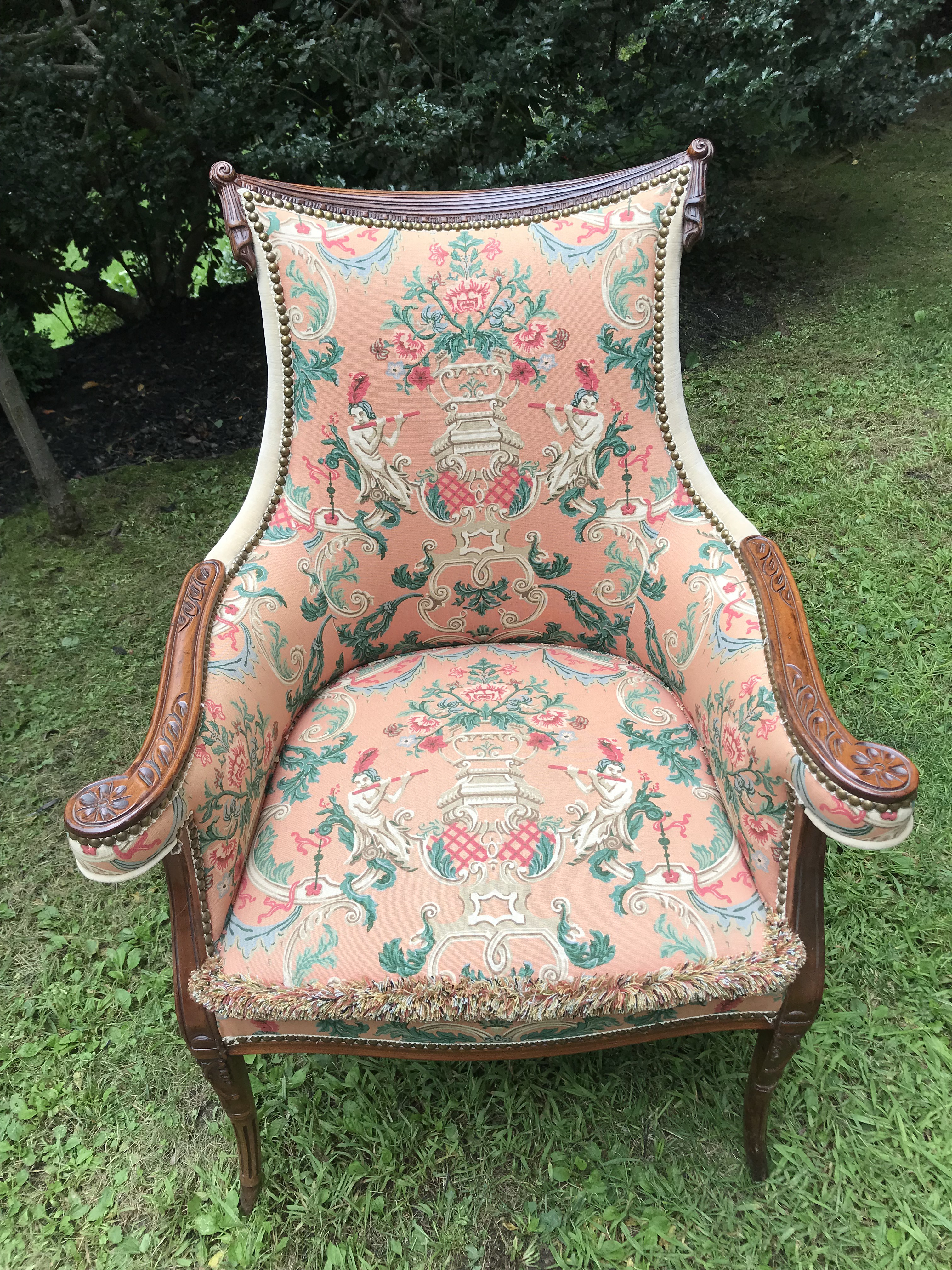 Vintage Curved Back Chairs With Just The Right Amount Of Detail. Outside  Upholstered In Schumacher. French 1930u0027s French Accent ...