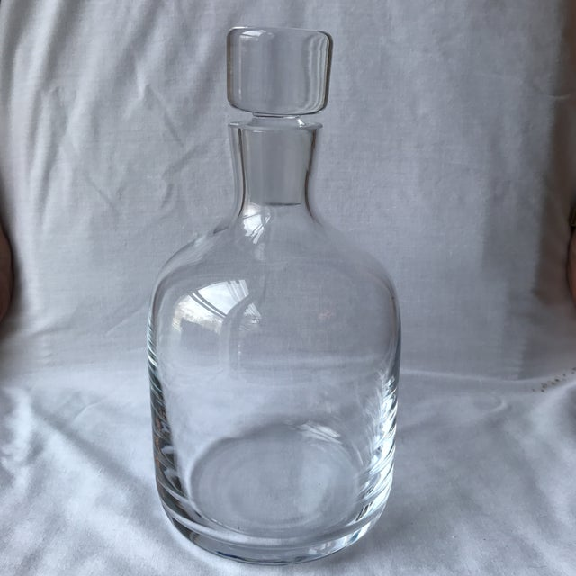 Mid 20th Century Vintage Modern Glass Decanter For Sale - Image 5 of 5