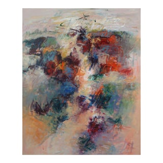 """Contemporary Abstract Acrylic Painting """"Celebration IV"""" by Mary Lou Siefker For Sale"""