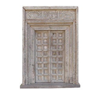 Antique Indian Door W/Surround For Sale