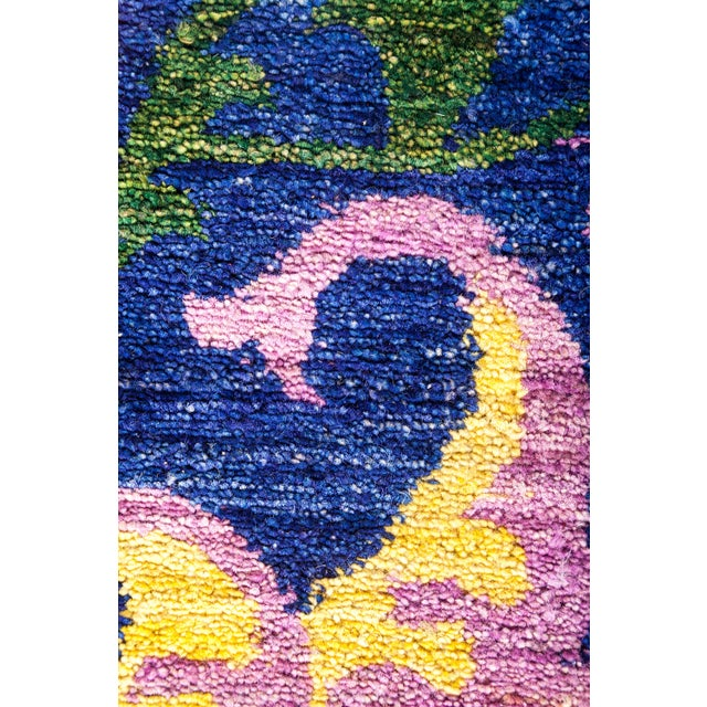 "Contemporary Suzani, Hand Knotted Area Rug - 8'1"" X 10'3"" For Sale - Image 3 of 3"