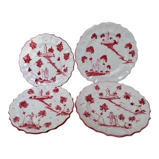 Italian Faience Plates - Set of 4