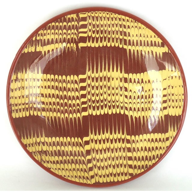 Marbled Redware Pottery Catchall Dish - Image 4 of 8