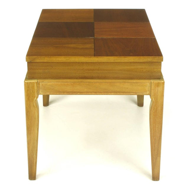 "Mahogany John Van Koert ""Casa Del Sol"" Parquetry Walnut End Table with Opening Top For Sale - Image 7 of 9"