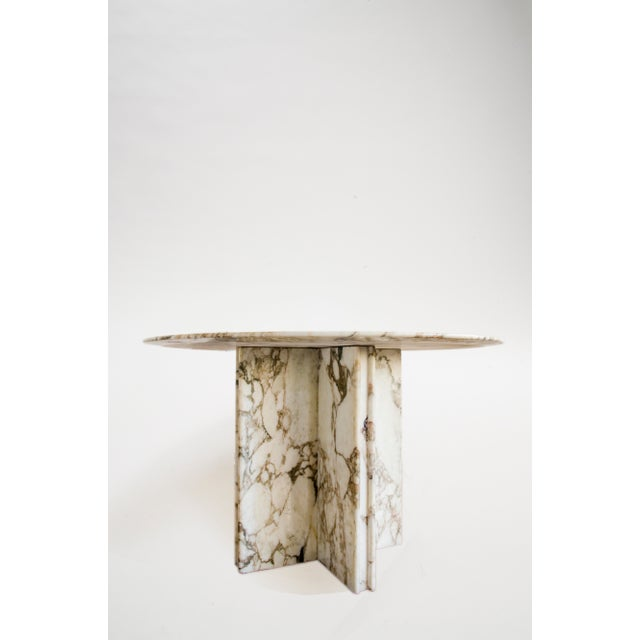 Not Yet Made - Made To Order Made to Order Italian Calacatta Marble Round Dining / Center Table For Sale - Image 5 of 10