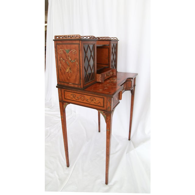 19th Century 19th Century Federal Hand-Painted Secretary Desk For Sale - Image 5 of 12