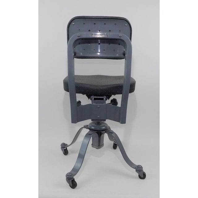 Remington Rand Mid-Century Adjustable Mechanical Age Industrial Office Chair For Sale - Image 9 of 11