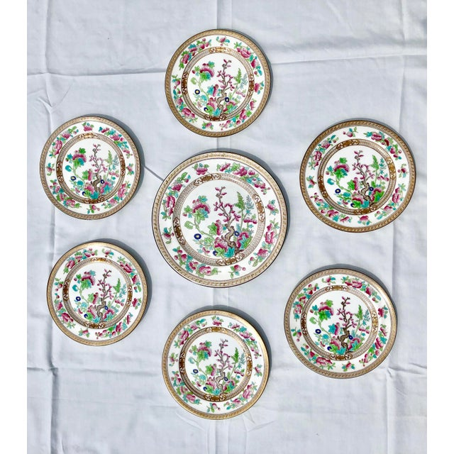 """Tea Sandwich Hand Painted Porcelain """"Indian Tree"""" Royal Doulton Plates Circa 1930 - Set of 6 For Sale - Image 10 of 10"""