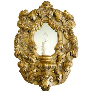 Extraordinary Italian Gilt-Wood Designer Sconce - Juliette by Randy Esada For Sale