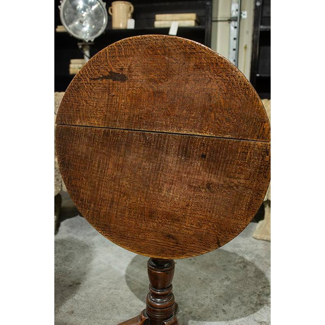Late 19th Century English Round Tilt Top Table For Sale - Image 5 of 6