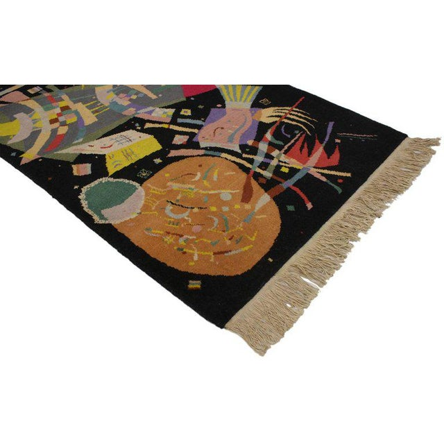 """Abstract Art Deco Style Tapestry Inspired by Wassily Kandinsky's """"Composition X"""" For Sale - Image 3 of 4"""