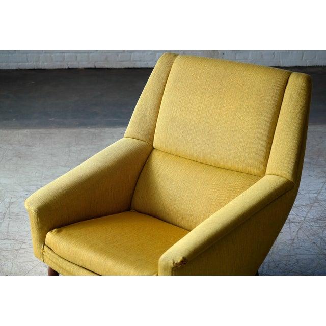 Mid-Century Modern Folke Ohlsson 1950s Mid-Century Danish Teak Lounge Chair for Fritz Hansen For Sale - Image 3 of 10