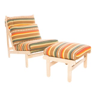 Vintage Rosarito Lounge Chair with Ottoman For Sale